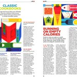 Healthy food and recipe books illustration for Economia magazine by Gillian Blease