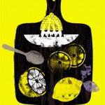 lemons food illustration by Gillian Blease