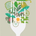 food illustration for Waitrose by Gillian Blease